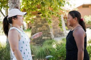A female volunteer in the Inland Empire with her mentee